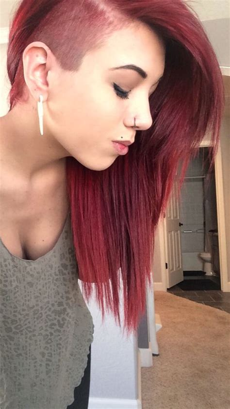 girl with half shaved head tumblr google search pixies