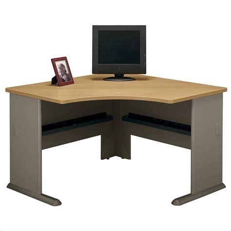 light wood corner desk bush furniture series a corner wood light computer desk ebay