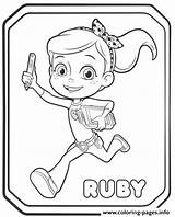 Rusty Rivets Coloring Ruby Pages Printable Ausmalbilder Sheets Colouring Whirly Drawing Books Von Ausdrucken Zum Sheet Cartoon Paw Patrol Fun sketch template