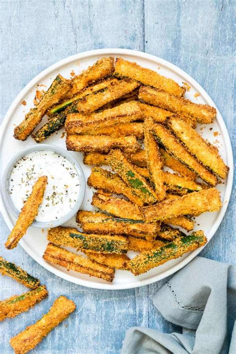 fryer air zucchini fries recipes keto carb low beginners vegan gluten vegetables breakfast frittata sweets breakfasts amazing plate