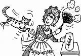 Amelia Bedelia Coloring Cat Jump Wecoloringpage Pages Character sketch template