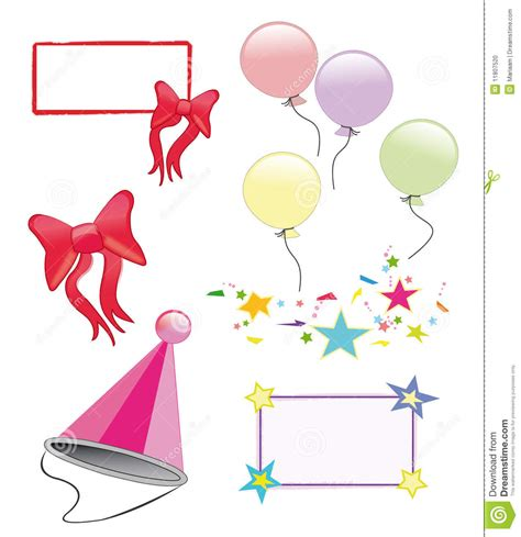 party symbols stock photo image
