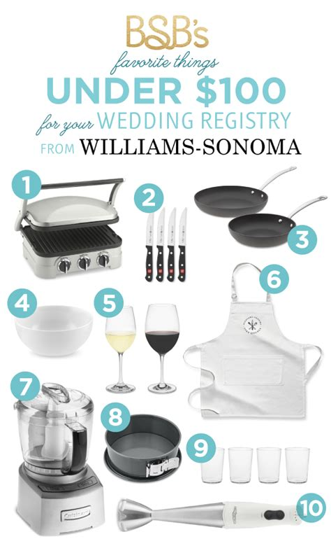 Kitchen Kaboodle Gift Registry by Favorite Wedding Registry Gifts Williams Sonoma