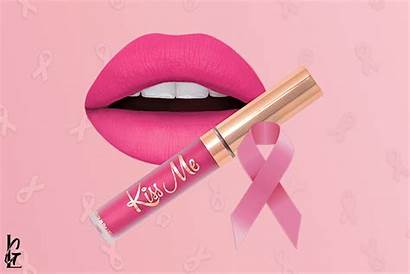 Cancer Breast Awareness Pink Lipstick Support Month