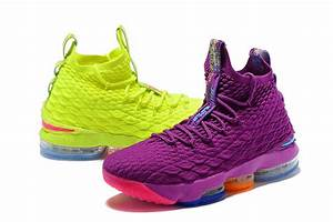 """What The Nike Lebron 15 """"Volt & Purple"""" For Sale 2018 ..."""