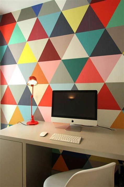 papier peint bureau le papier peint géométrique en 50 photos avec idéеs