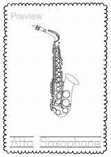 Woodwind Instrument Trace Teacherspayteachers Coloring sketch template