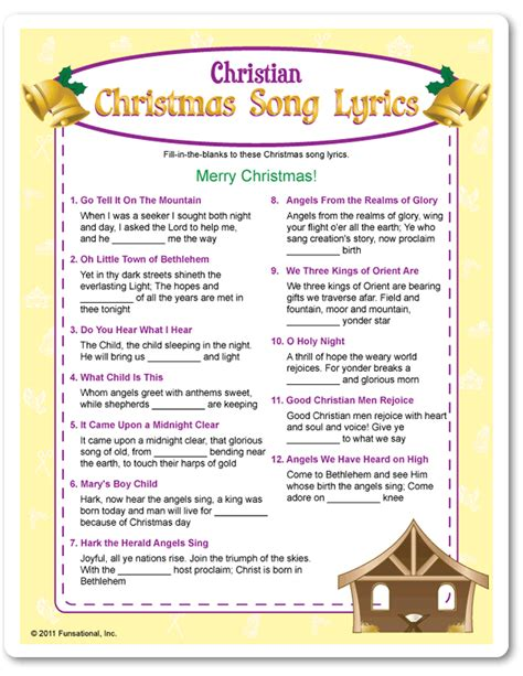 right left christmas game based on the nativity story