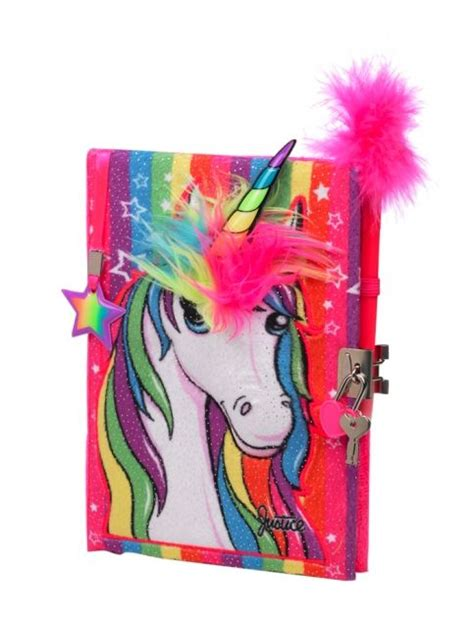 plush unicorn journal girls journals writing beauty