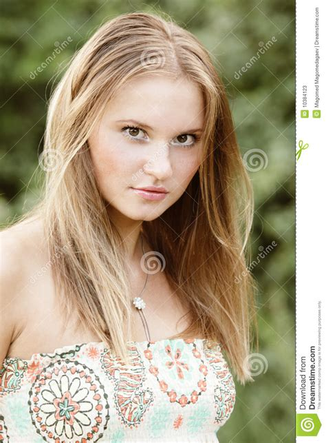 Pretty Girl In Sun Dress Stock Image Image Of Fair Woman