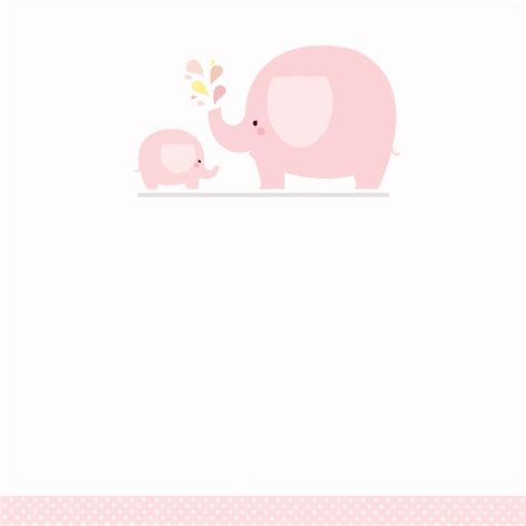 Baby Shower Templates Free - pink baby elephant free printable baby shower invitation