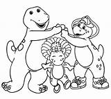 Barney Coloring Friends Pages Printable Dinosaur Cartoon Books Birthday Happy Sketch Bj Getcoloringpages Template sketch template