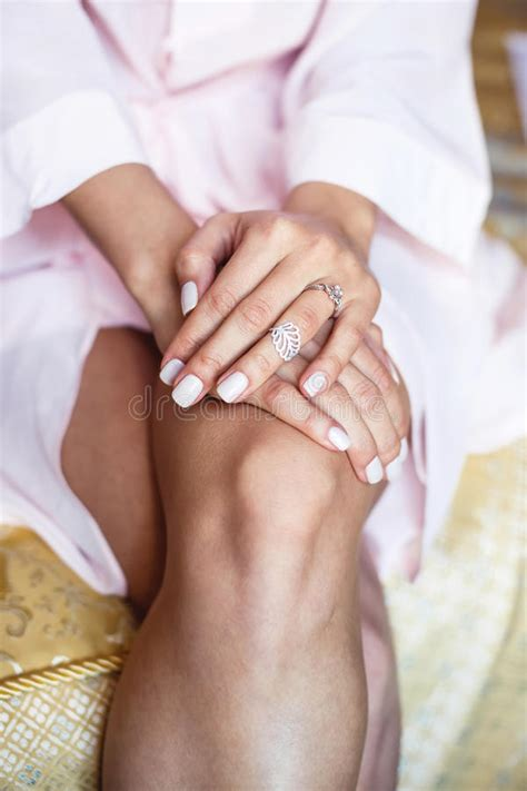 Holding Hands With Wedding Rings Stock Image