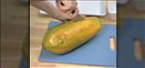 how to cut a papaya how to cut and prepare papaya 171 fruit wonderhowto