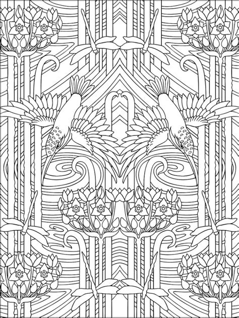 art deco patterns coloring pages  adults