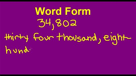 number forms expanded form word form and standard form