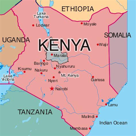 map  kenya republic  kenya maps mapsofnet