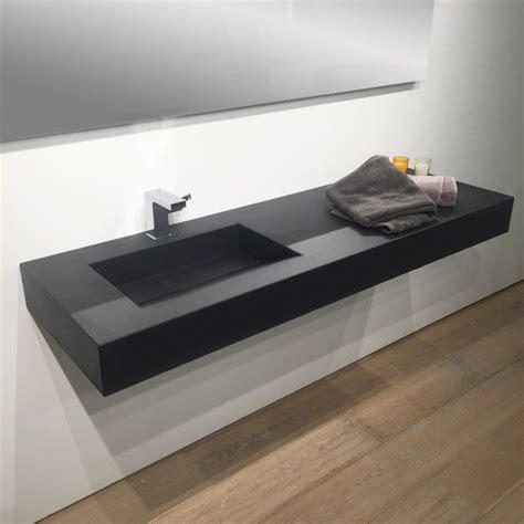 plan vasque salle de bain suspendu 141x46 cm vasque excentr 233 e pizarra
