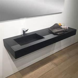 plan vasque salle de bain suspendu 141x46 cm vasque With vasque suspendue salle de bain
