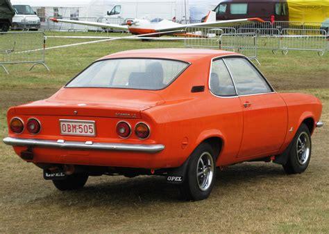Opel Manta A by Bestand Opel Manta A Rear Three Quarters Jpg