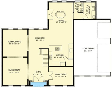 center hall colonial ut architectural designs house plans