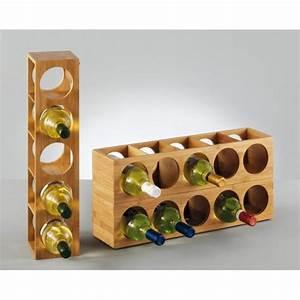 Casier À Bouteilles En Bois : range bouteille une colonne monde du vin ~ Dode.kayakingforconservation.com Idées de Décoration