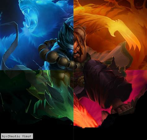 Spirit Guard Udyr Animated Wallpaper - spirit guard udyr the big four by chaoticvisor on deviantart