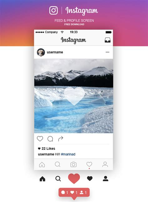 Instagram Mockup 20 Best Free Instagram Mockup Templates 2018 Themelibs