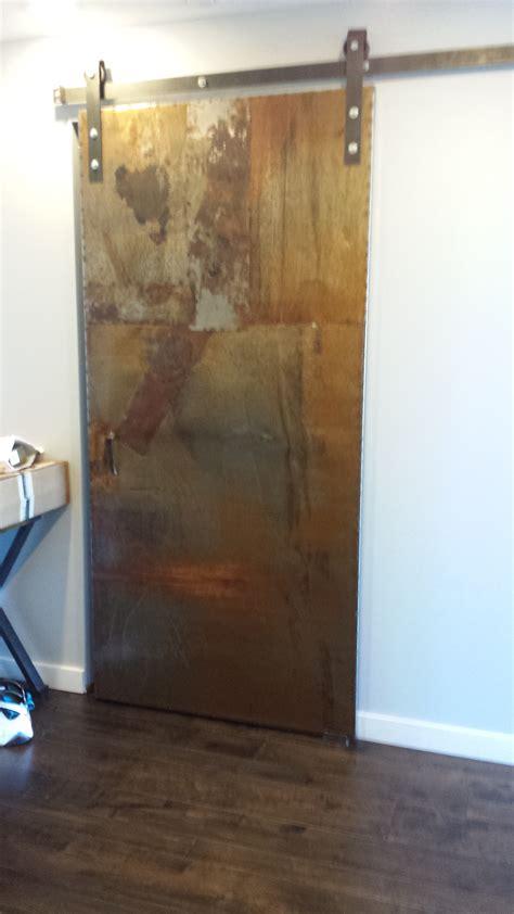 artistic industrial metal sliding door designed and