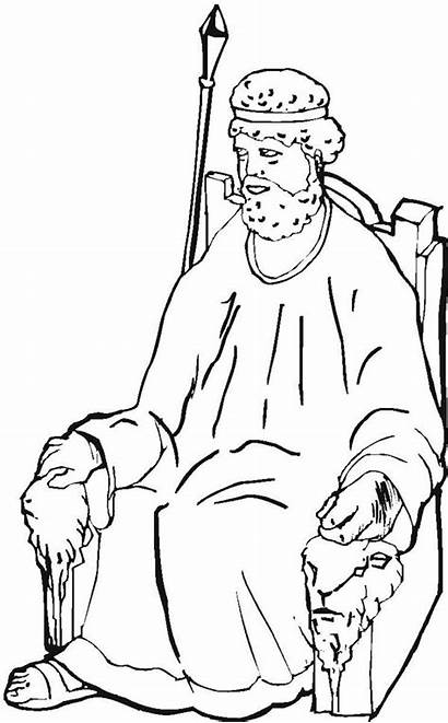 Coloring Throne King Samuel Sketch Designlooter