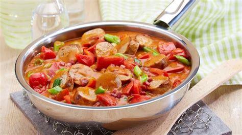 wuerstchenpfanne mit paprika rezept edeka