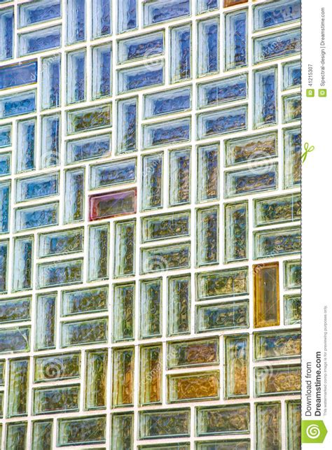 mur de briques en verre photo stock image 41215307
