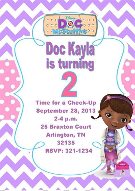 doc invitation template 17 best images about doc mcstuffins on doc mcstuffins invitations and bags