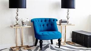 Fauteuil Crapaud Bleu Canard : fauteuil bleu ventes priv es westwing ~ Teatrodelosmanantiales.com Idées de Décoration