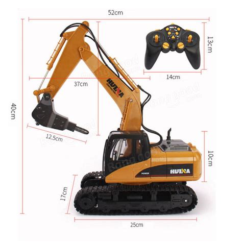 Harga Rc Excavator Huina 16 channels metal rc excavator huina 560 2 4g 1 12 broken