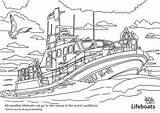 Colouring Coloring Boat Guard Coast Lifeboat Competition Rnli Tamar Under Whitstable Station sketch template