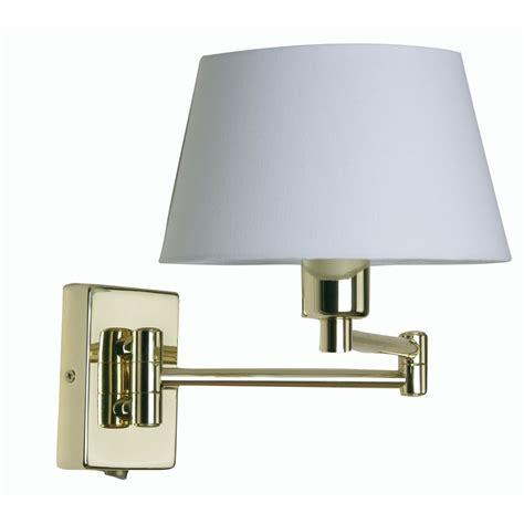 armada 1x60w swing arm wall light in polished brass oaks