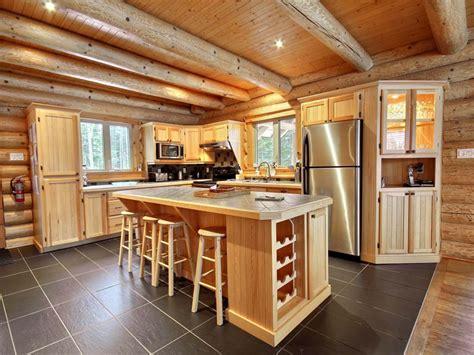 cuisine de chalet castor au chalet en bois rond