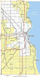 Milwaukee highway map - Map of Milwaukee highway ...