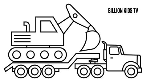 excavator coloring page comfy pages  print