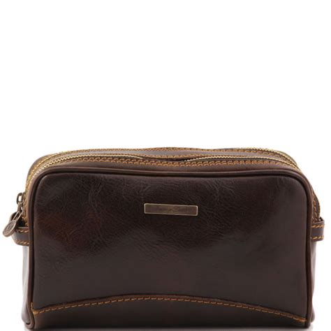trousse de toilette femme luxe trousse de toilette en cuir 224 2 compartiments s 233 par 233 s tuscany leather