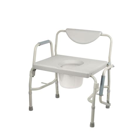 Drive Bariatric Drop Arm Bedside Commode Chair111351
