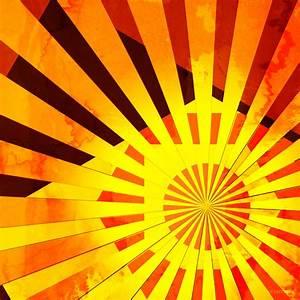 Abstract Sun Rays | Digital