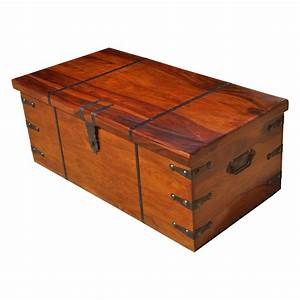 large solid wood with metal accents storage trunk coffee With coffee table storage chests trunks