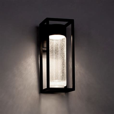 modern forms ws w5416 bk black outdoor wall light build