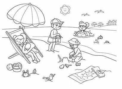 Beach Coloring Pages Printable Scribblefun
