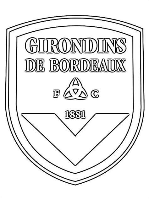 Bordeaux Kleurplaat kleurplaat girondins de bordeaux gratis kleurplaten