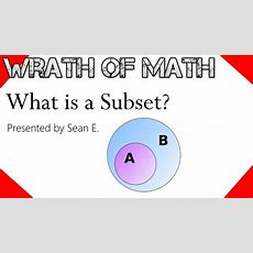 What Is A Subset? Youtube