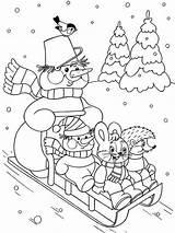 Sledding Familyfriendlywork sketch template