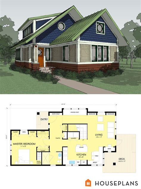 Energy Efficient Small House Plans by Small Energy Efficient Craftsman Bungalow Designed By